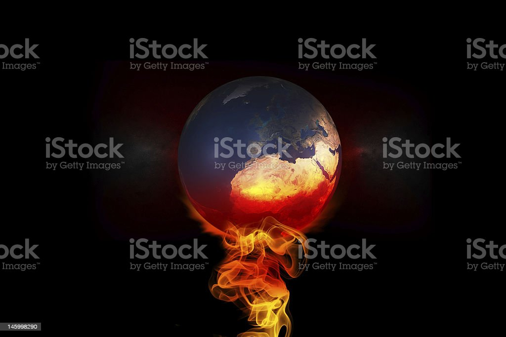 Global Warming,fire royalty-free stock photo