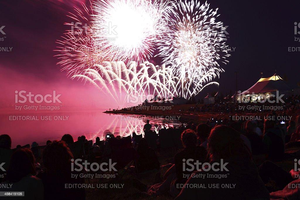 GlobalFest Fireworks royalty-free stock photo