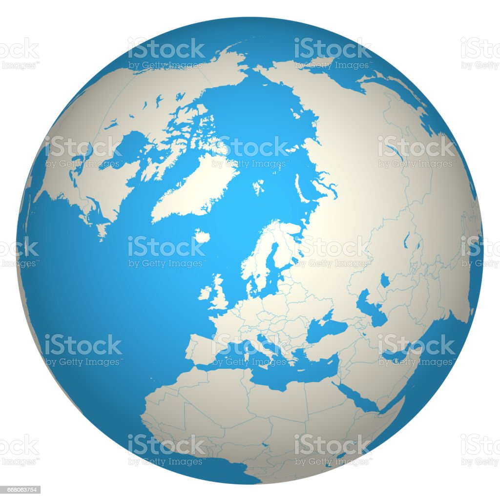 Globe 3D stock photo