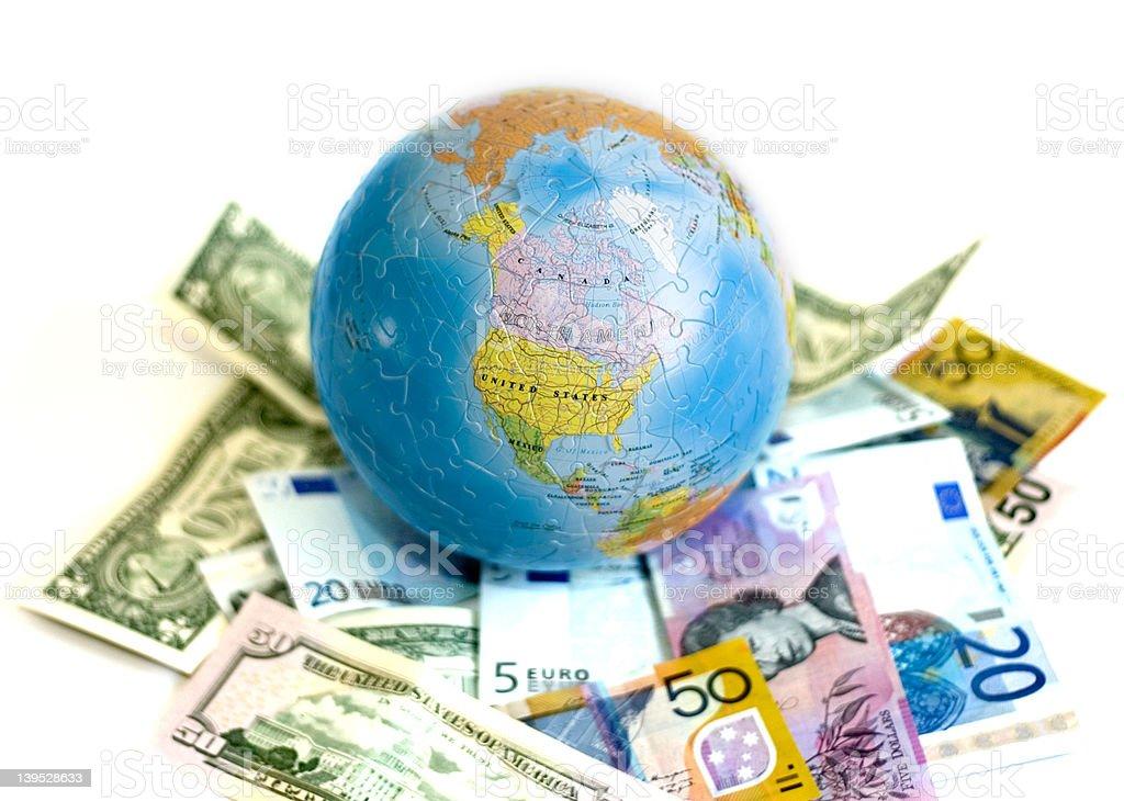 Globe 3D Puzzle royalty-free stock photo