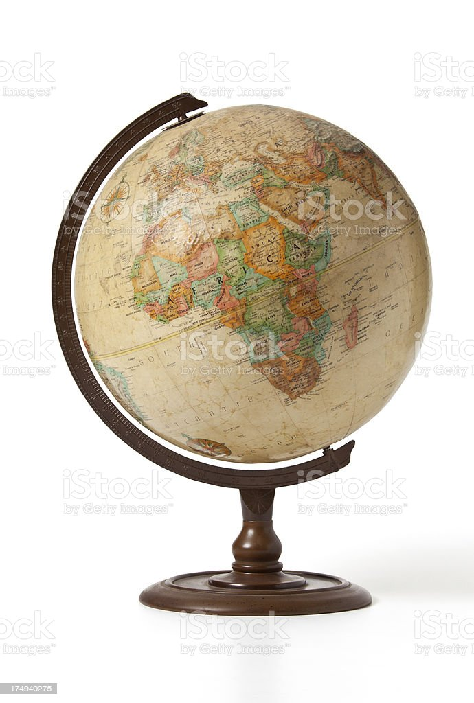 globe Africa royalty-free stock photo