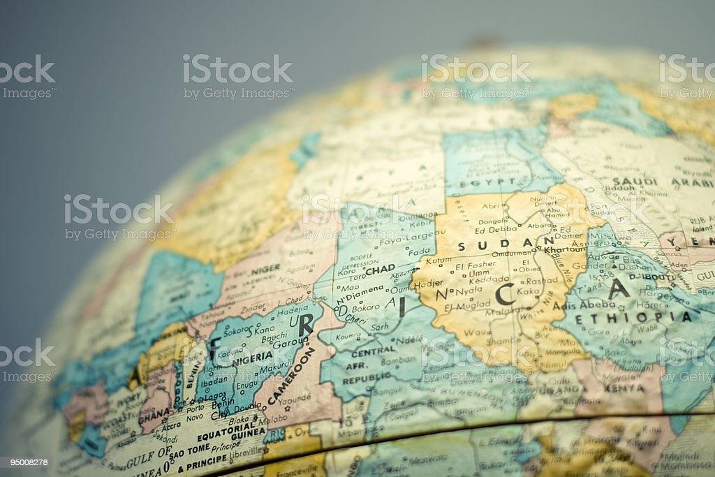 Globe - Africa stock photo