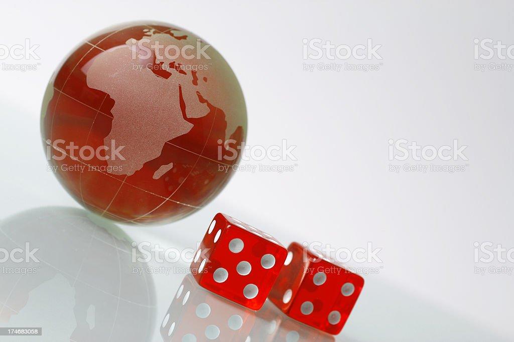 Globe and Dice royalty-free stock photo