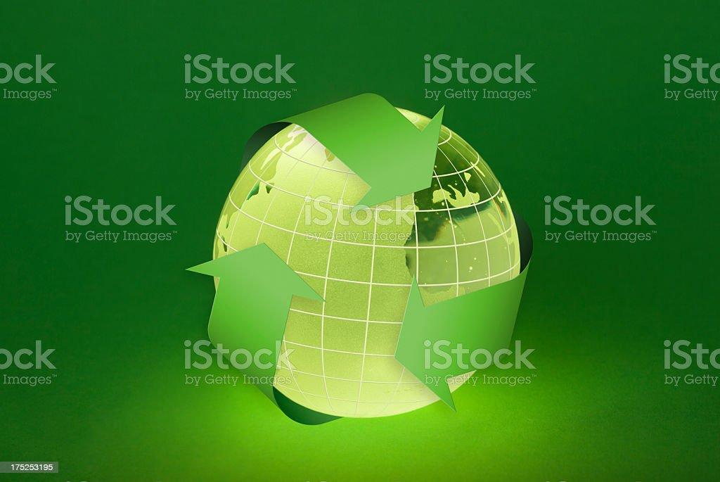 Globe and Enviroment royalty-free stock photo