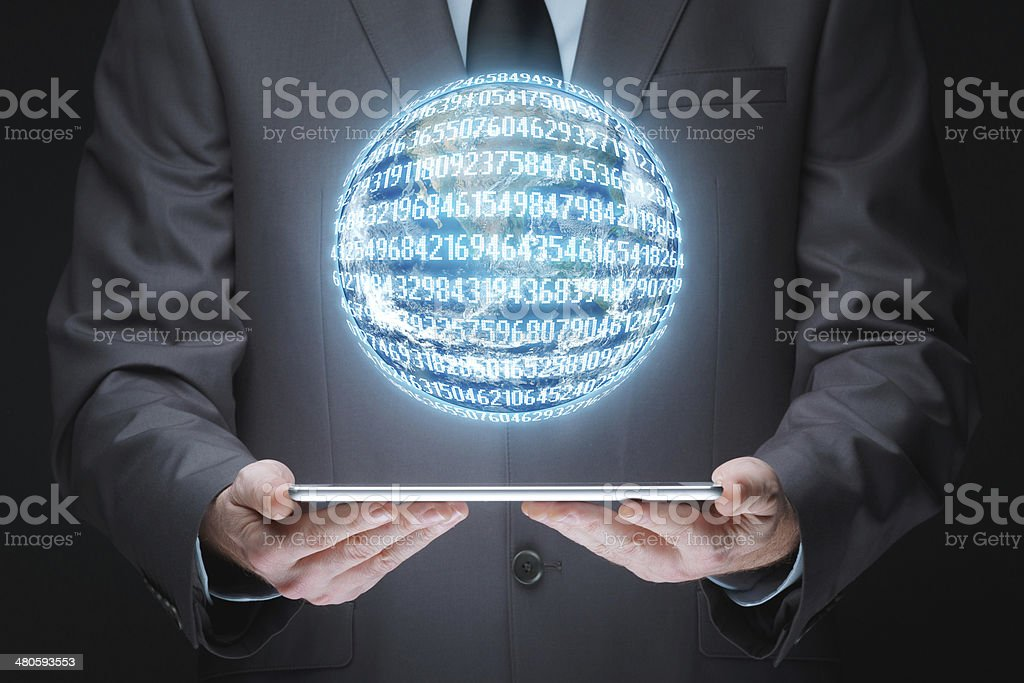 Globe and finance royalty-free stock photo
