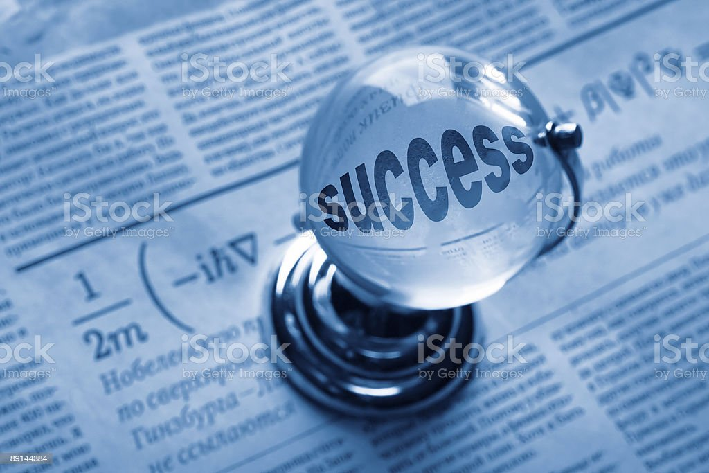 globe and formula of succes royalty-free stock photo