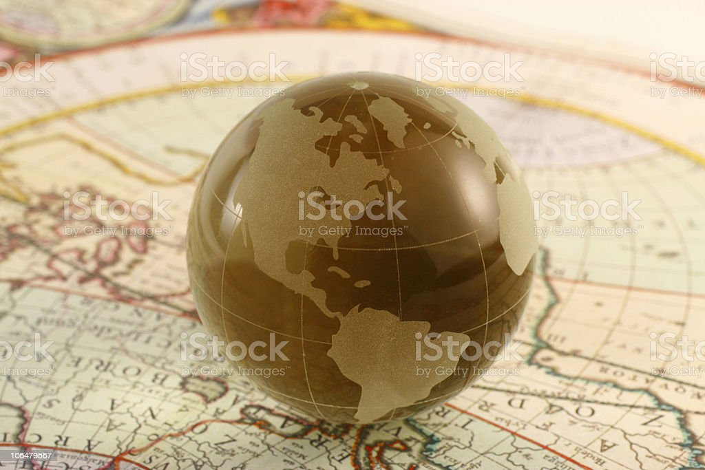 globe and map royalty-free stock photo