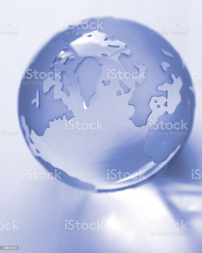 Globe and reflection royalty-free stock photo
