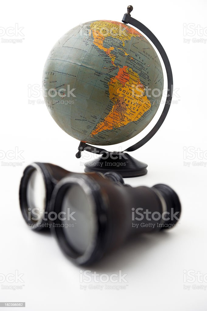 Globe and Telescopes royalty-free stock photo