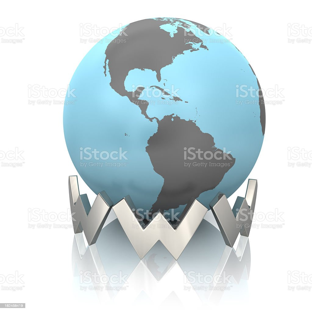 Globe and World Wide Web royalty-free stock photo