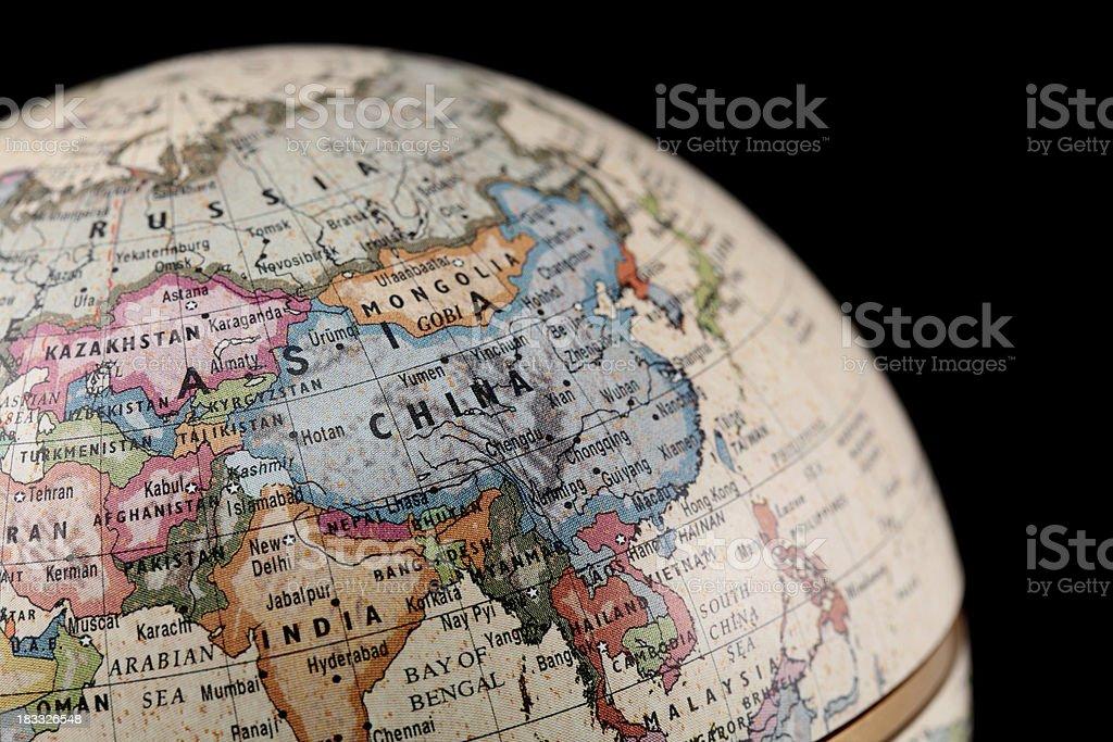 Globe ASIA royalty-free stock photo