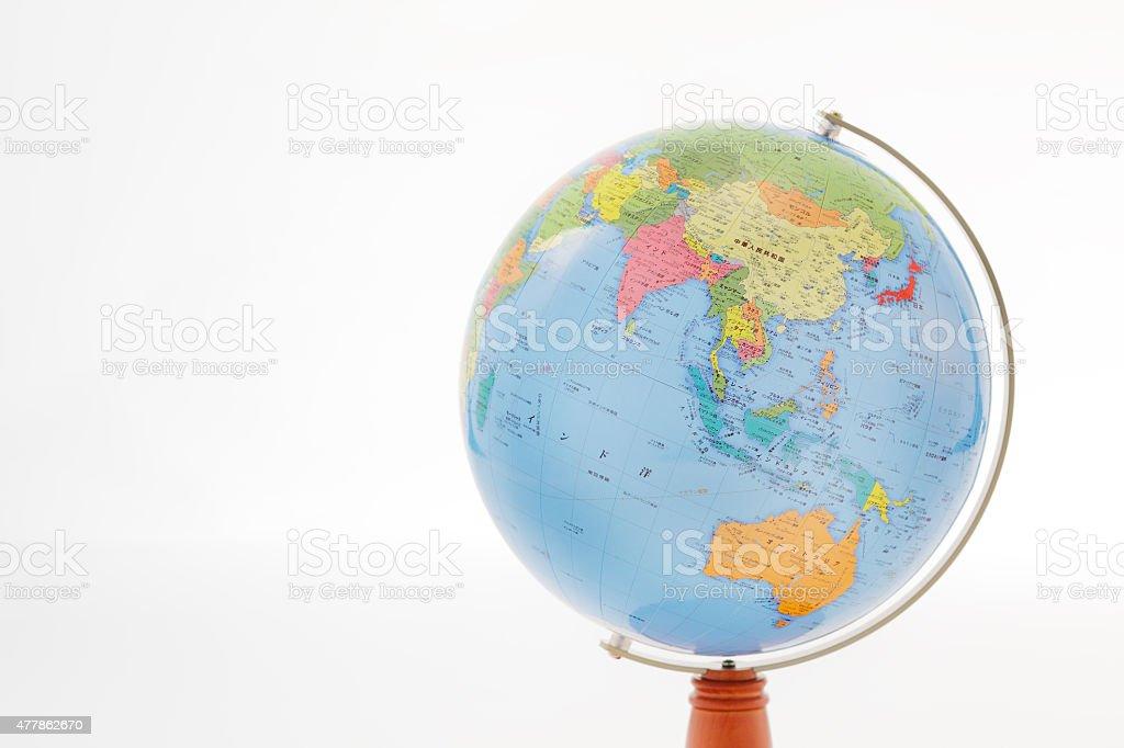 Globe Asia region is captured stock photo