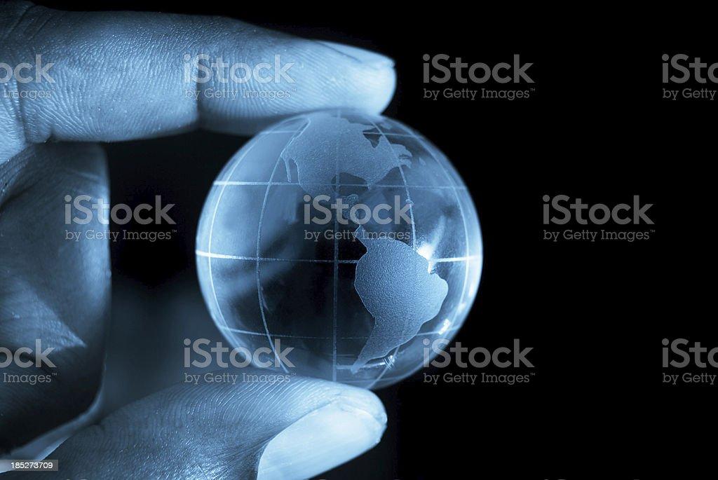 globe at fingertips royalty-free stock photo