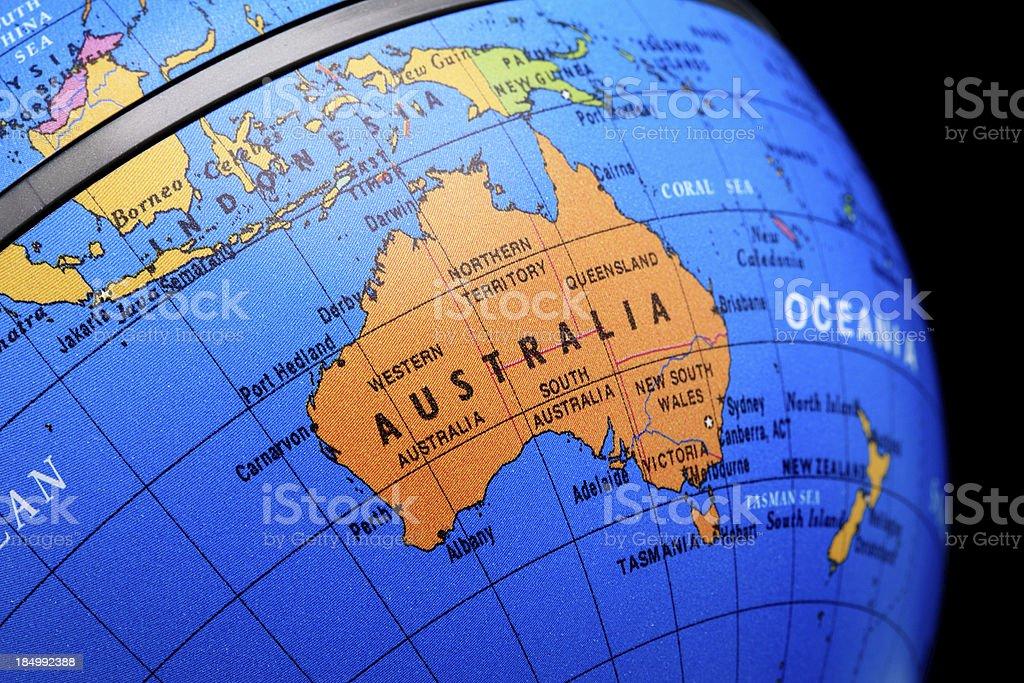Globe Australia stock photo