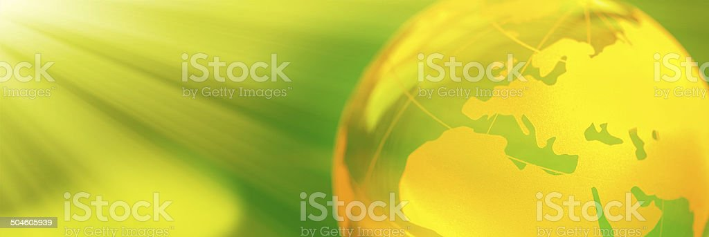 Globe Banner royalty-free stock photo