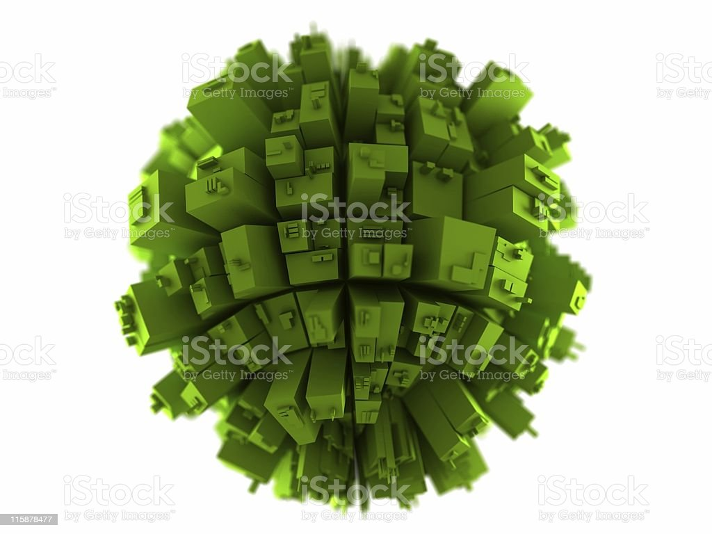 Globe Build Green royalty-free stock photo