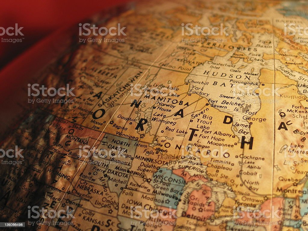 Globe Canada stock photo