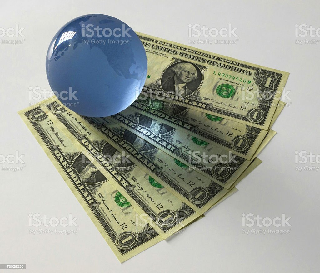 Globe dollar stock photo