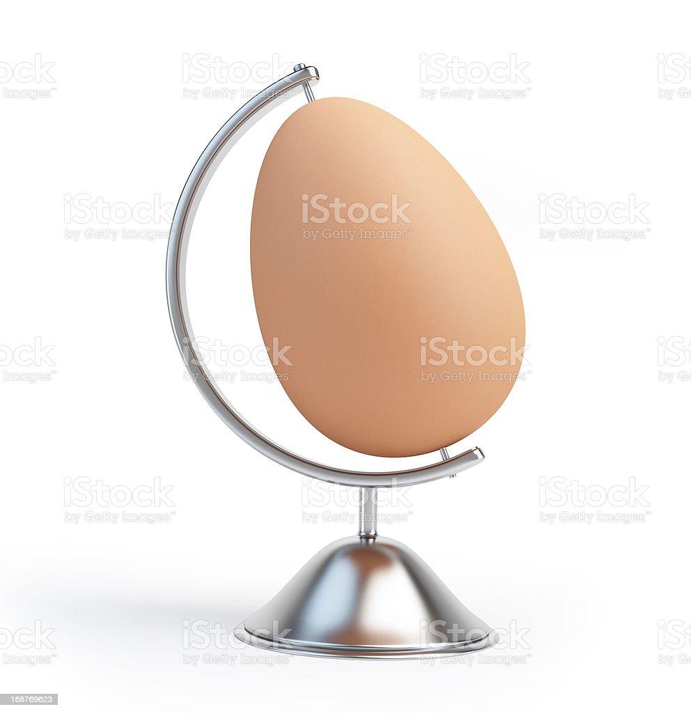 globe egg sign royalty-free stock photo