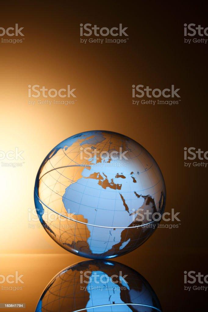 Globe Europe & Africa royalty-free stock photo