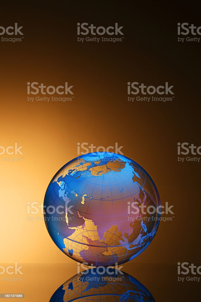 Globe Europe and Asia royalty-free stock photo