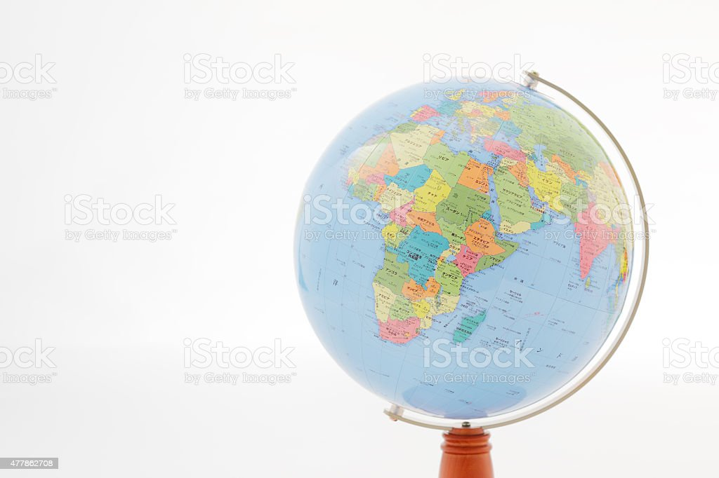 Globe Europe is captured stock photo