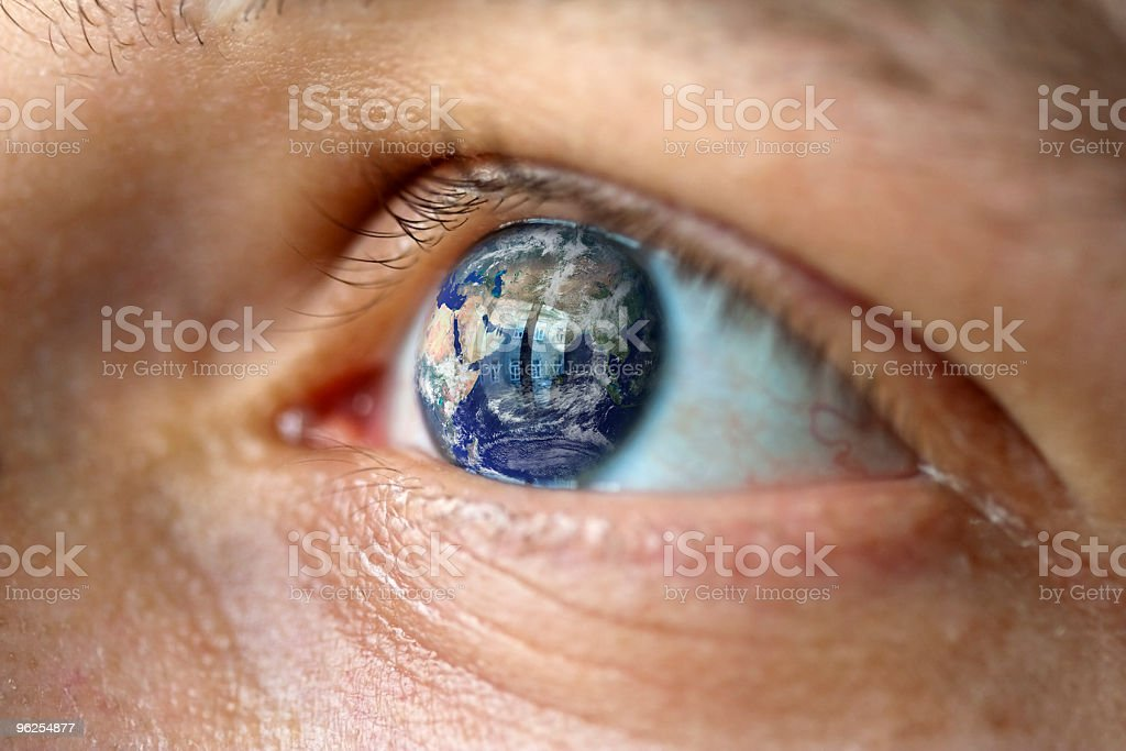 globe eye hope look stock photo