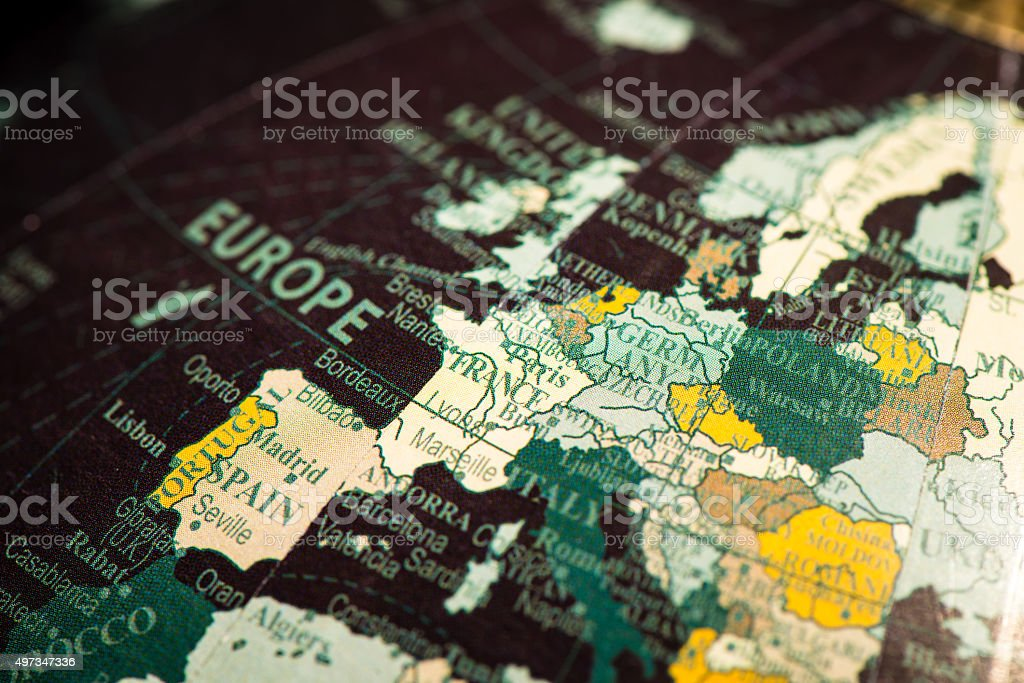 Globe Focus on France stock photo