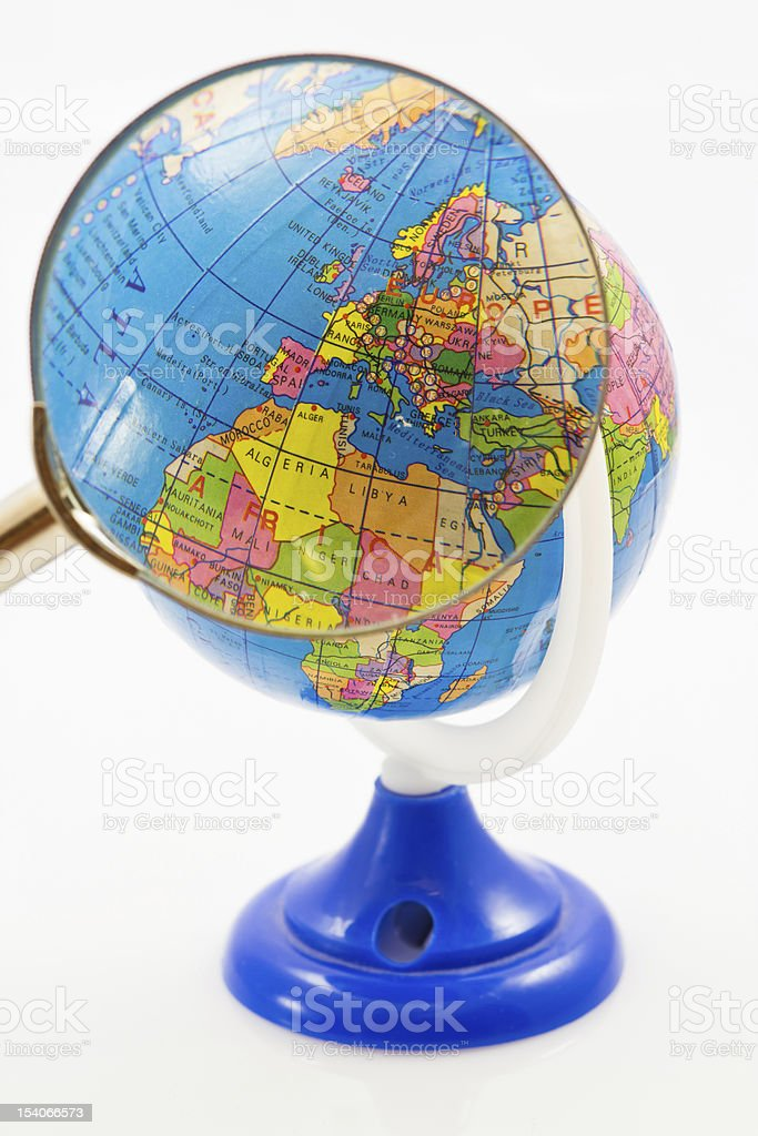 Globe for children with sharpener royalty-free stock photo
