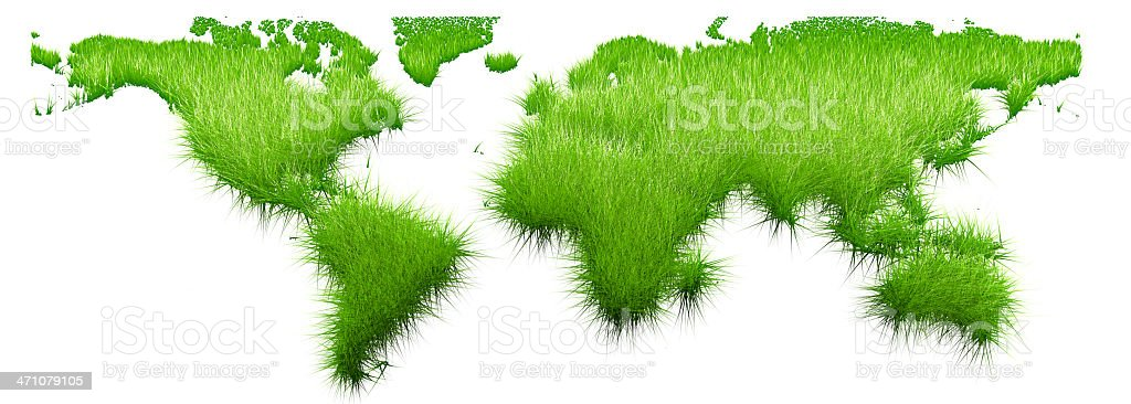 globe grass flat royalty-free stock photo