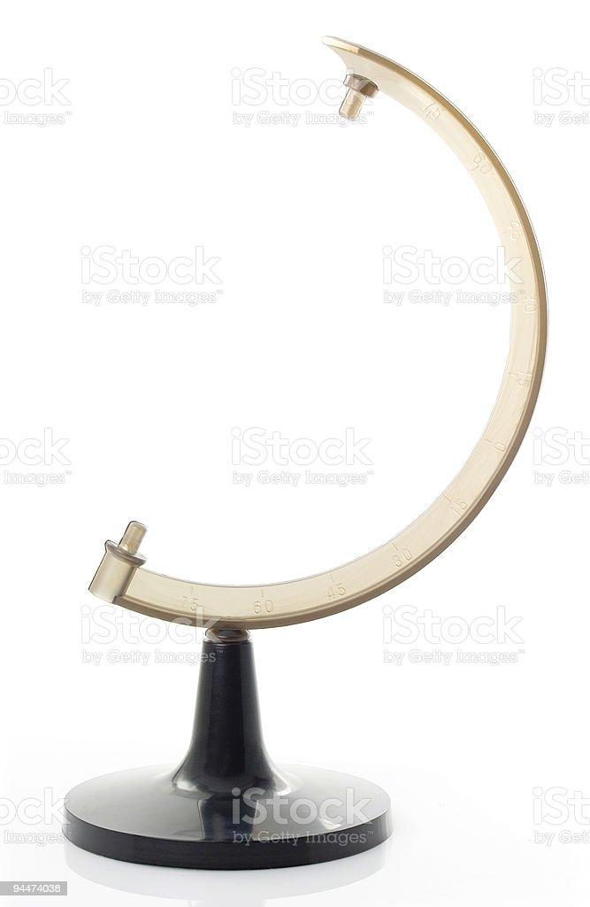Globe holder stock photo