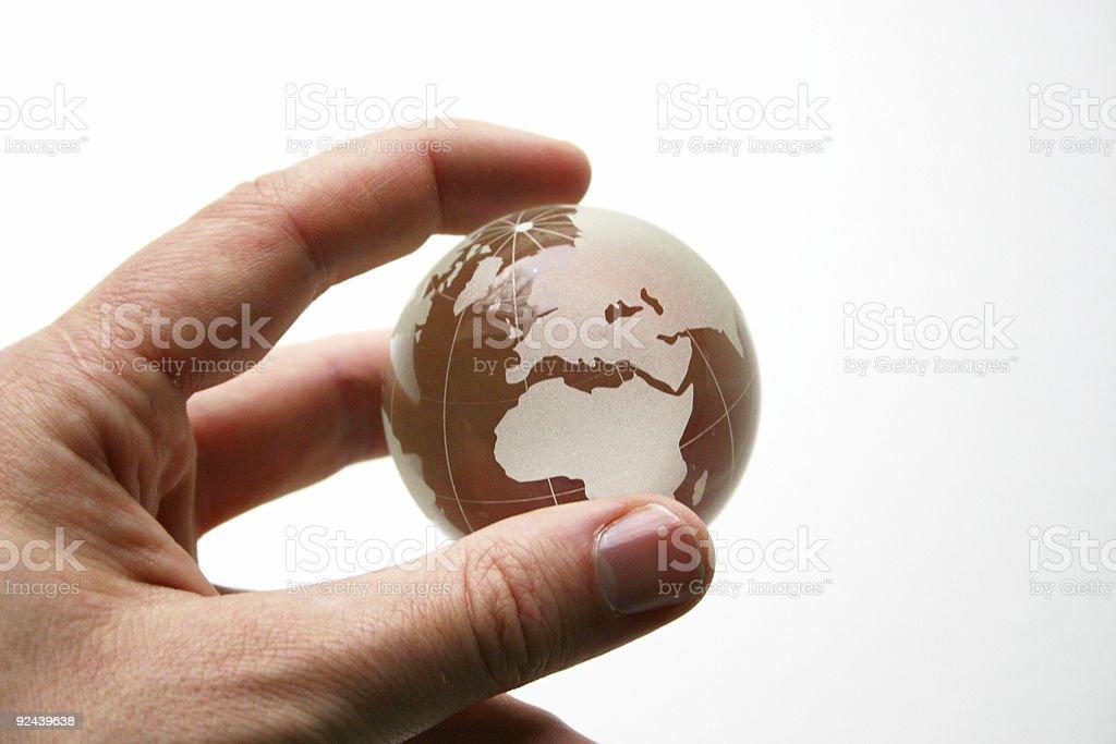 Globe in Hand stock photo