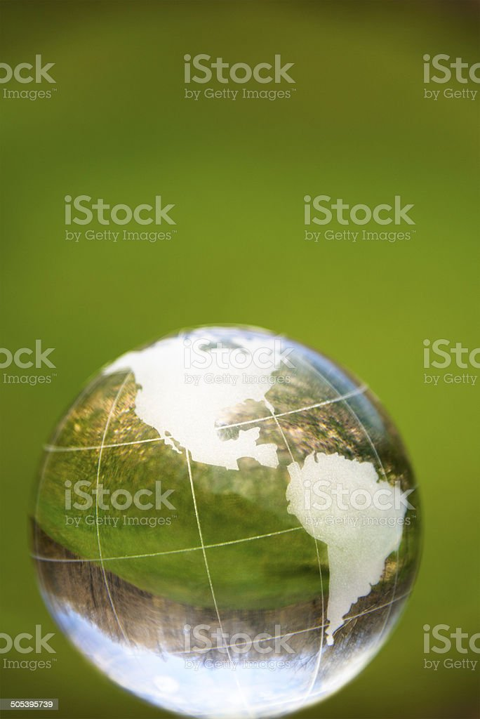 Globe in Nature royalty-free stock photo