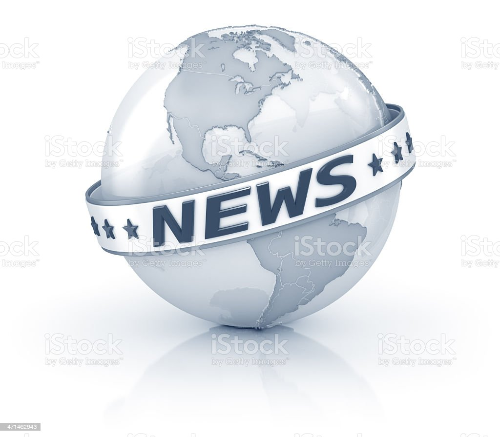Globe International News royalty-free stock photo
