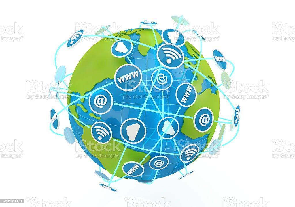 globe internet stock photo