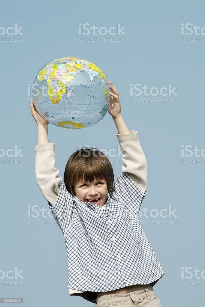 Globe & Kids serie - 02 royalty-free stock photo