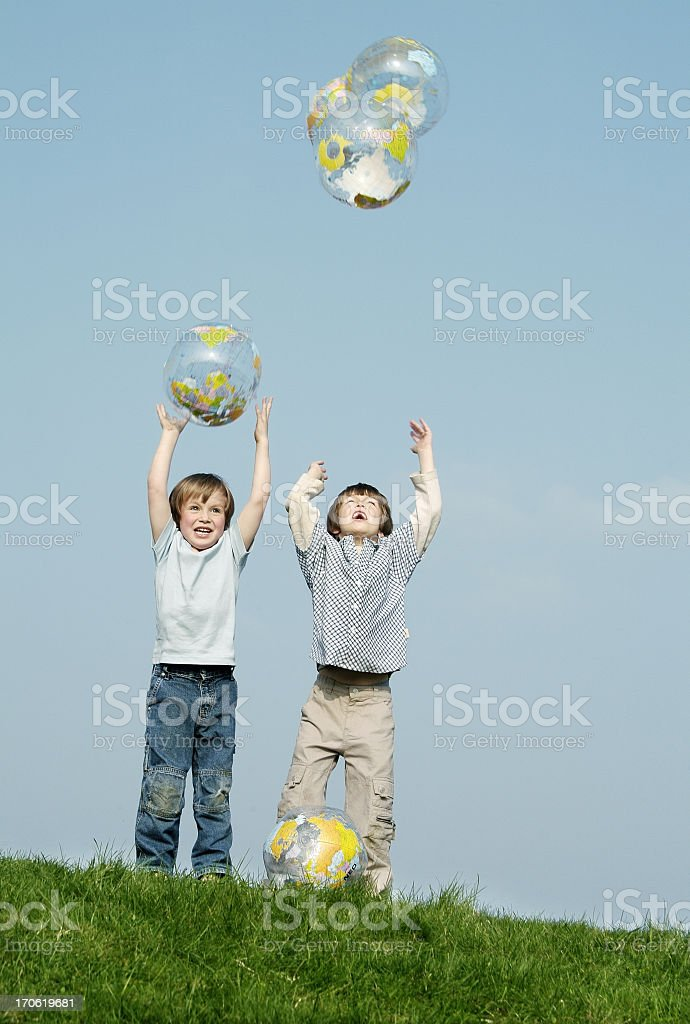 Globe & Kids serie - 06 stock photo