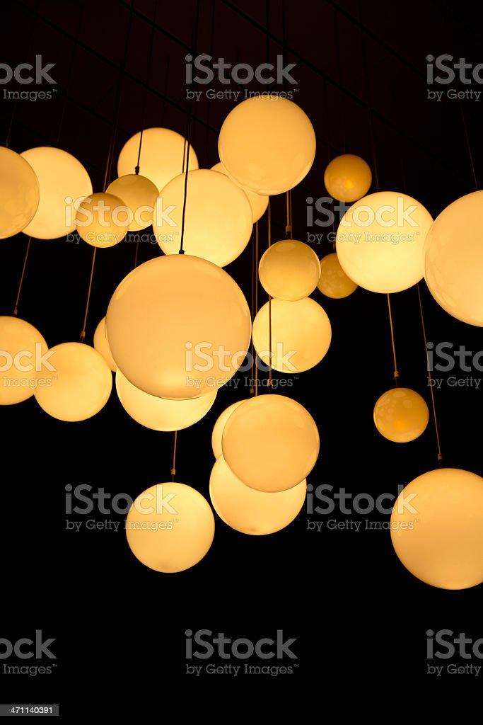 Globe lamps royalty-free stock photo