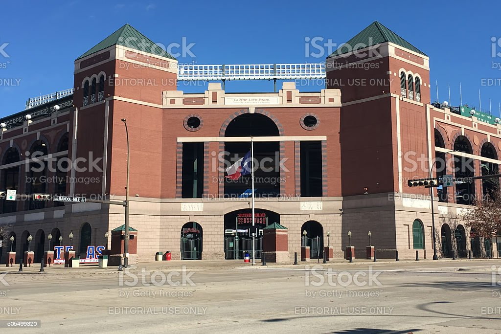 Globe Life Park, home to Texas Rangers of the MLB stock photo
