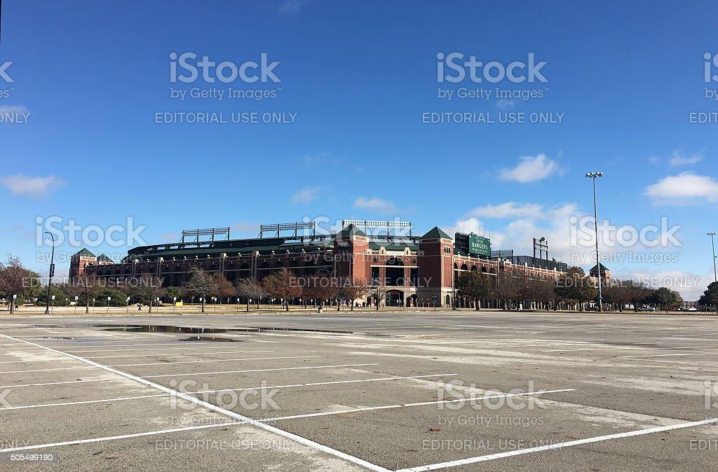 Globe Life Park in Arlington, home to the Texas Rangers stock photo