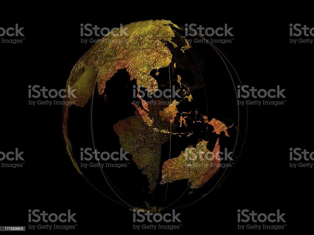 Globe map royalty-free stock photo