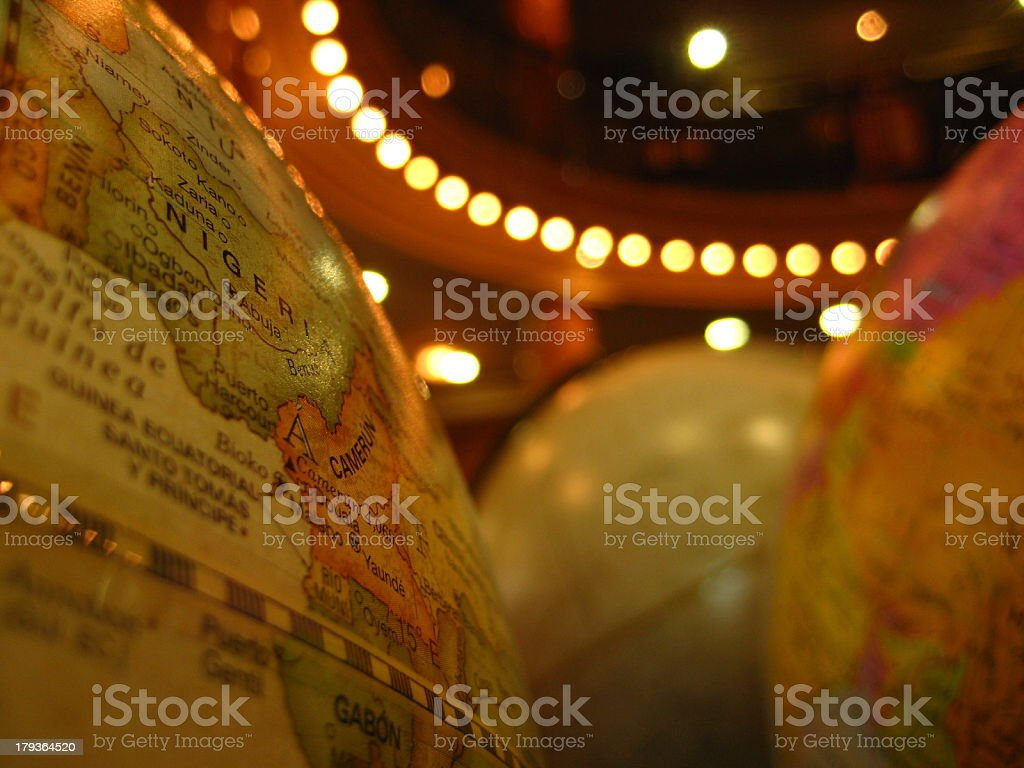 Globe maps royalty-free stock photo