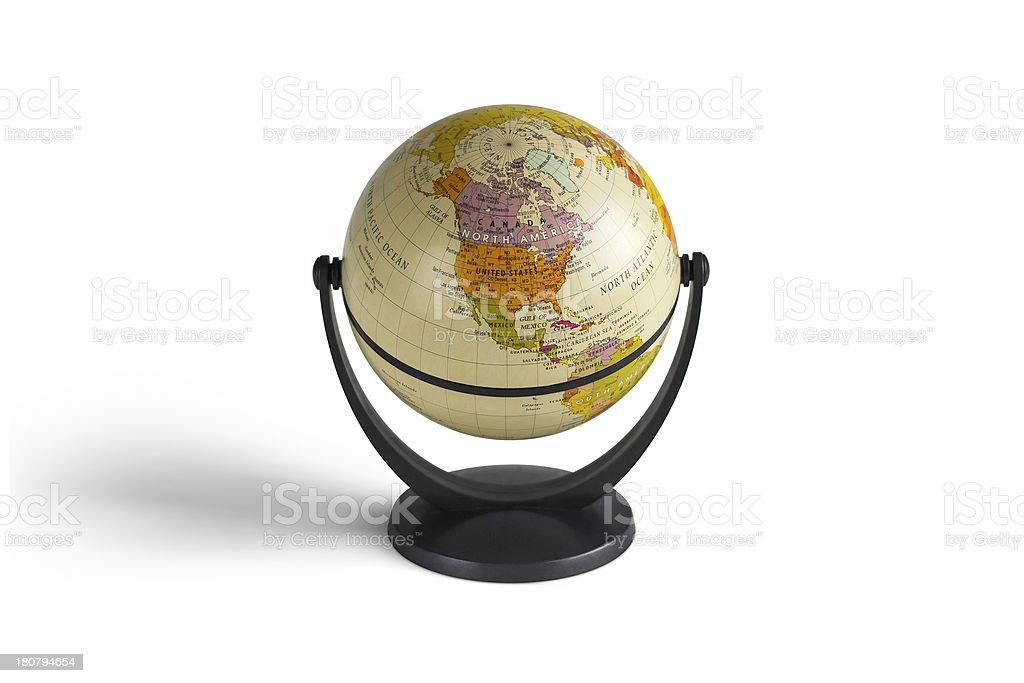 globe model in white background royalty-free stock photo