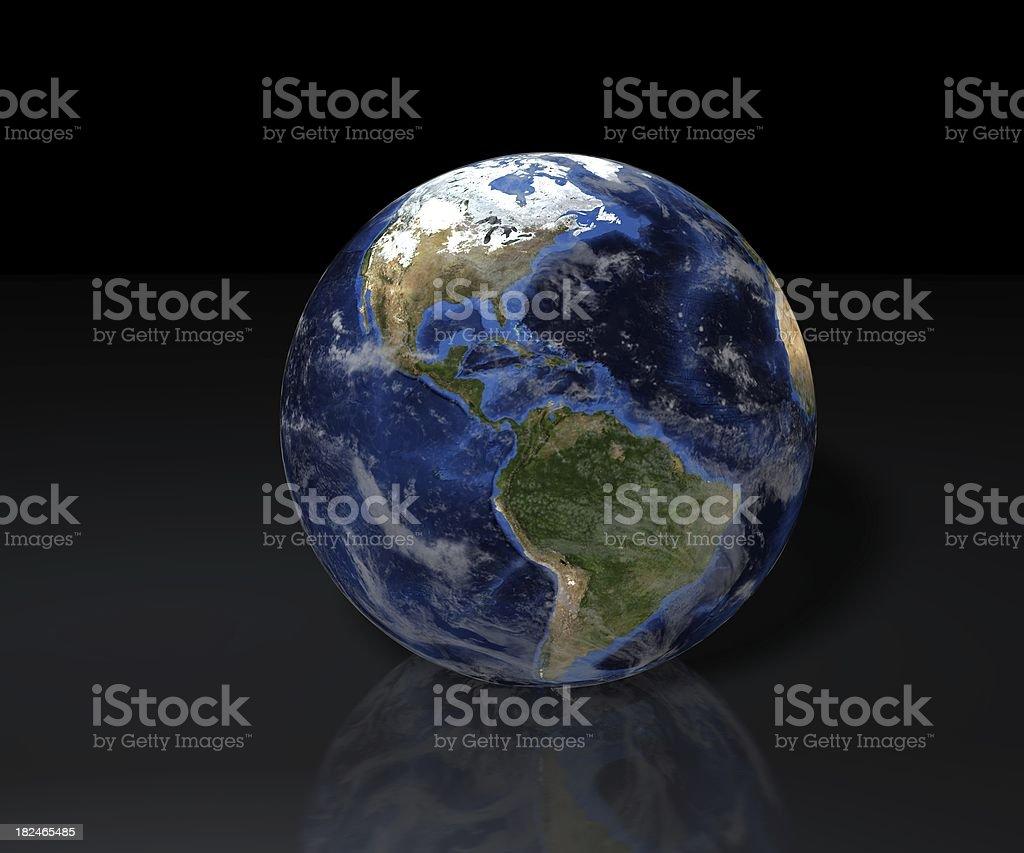 3D Globe - North & South America stock photo