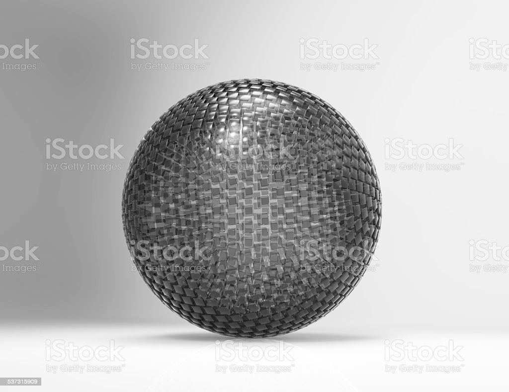 Globe of cubes stock photo
