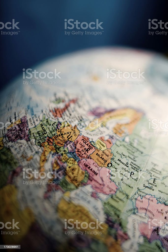 Globe of Europe stock photo