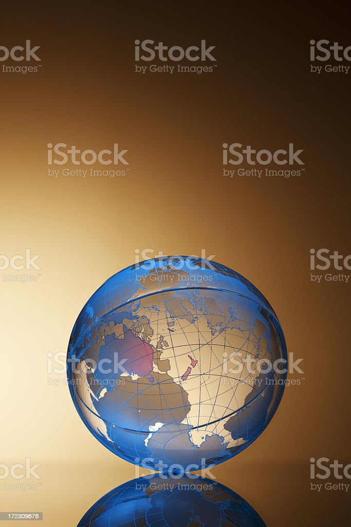 Globe of South Pacific royalty-free stock photo