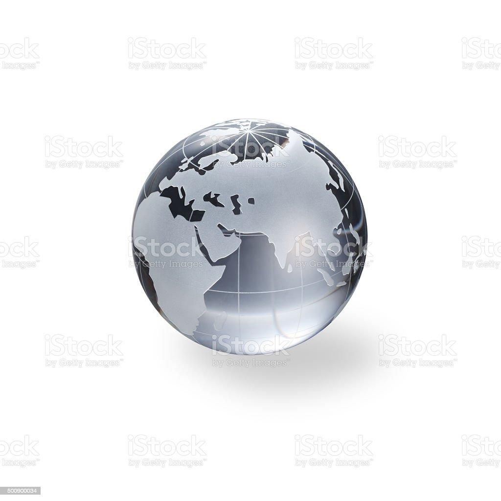 Globe of the World. Eurasia stock photo