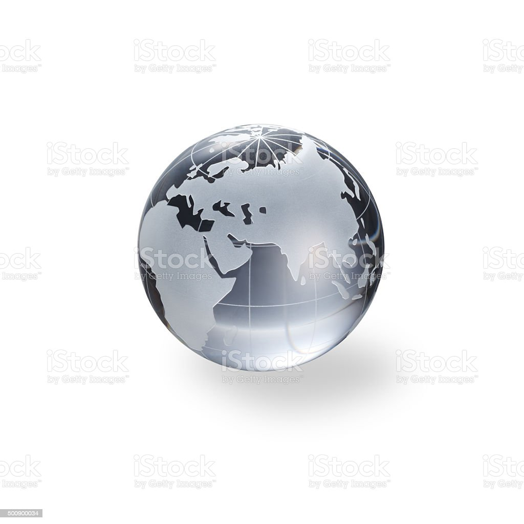 Globe of the World. Eurasia stock photo