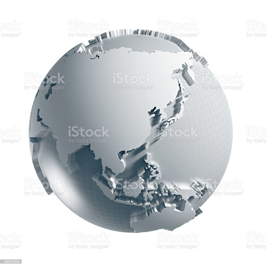 Globe of the World. stock photo